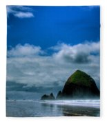 Haystack Rock V Fleece Blanket