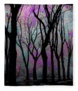 Hazy Purple Fleece Blanket