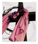 He Is Risen Fleece Blanket