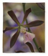 He Pua Ke Aloha - The Flower Of Love - Orchidea Tropicale Fleece Blanket