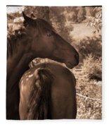 Head And Tail Fleece Blanket