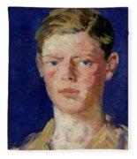 Head Of A Young Man Fleece Blanket
