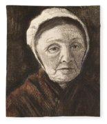 Head Of An Old Woman In A Scheveninger Fleece Blanket