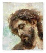 The Head Of Christ Fleece Blanket