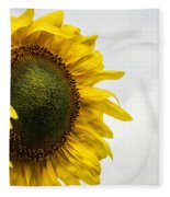 Head Up To The Rains - Sunflower Fleece Blanket
