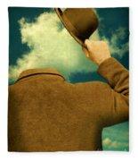 Headless Man With Bowler Hat Fleece Blanket