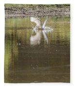Headless Snowy Egret Of Rum Creek Fleece Blanket