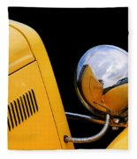 Headlight Reflections In A 32 Ford Deuce Coupe Fleece Blanket