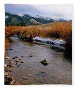 Headwaters Of The River Of No Return Fleece Blanket