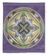Healing Mandala Fleece Blanket