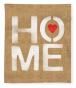 Heart And Home Fleece Blanket