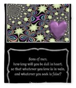 Heart And Love Design 14 With Bible Quote Fleece Blanket