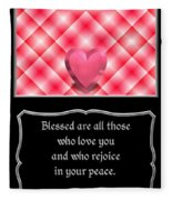 Heart And Love Design 15 With Bible Quote Fleece Blanket