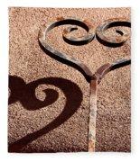 Heart And Shadow Fleece Blanket