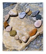 Heart And Stones  Fleece Blanket