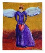 Heart Angel Fleece Blanket