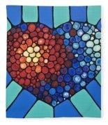 Heart Art - Love Conquers All 2  Fleece Blanket