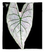 Heart In The Garden Fleece Blanket