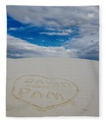 Heart In The Sand Fleece Blanket
