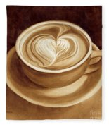 Heart Latte II Fleece Blanket