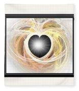 Heart N Soul Fractal Fleece Blanket