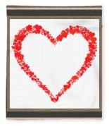 Heart Of Hearts II... Fleece Blanket