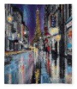 Heart Of Paris Fleece Blanket
