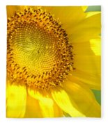 Heart Of The Sunflower Fleece Blanket