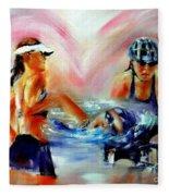 Heart Of The Triathlete Fleece Blanket