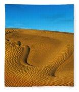 Heart In The Sand Dunes Fleece Blanket