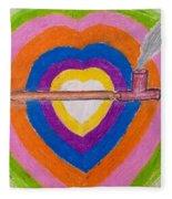 Heart Pipe Fleece Blanket