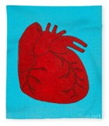 Heart Red Fleece Blanket