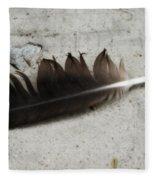 Heart Rock And Feather Fleece Blanket