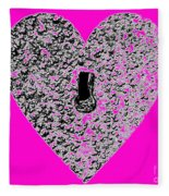 Heart Shaped Lock - Pink Fleece Blanket