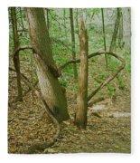 Heart Shaped Roots Fleece Blanket