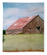 Heartland Barn Fleece Blanket