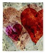 Hearts 10 Square Fleece Blanket