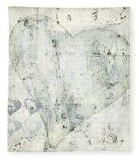 Hearts 13 Square Fleece Blanket