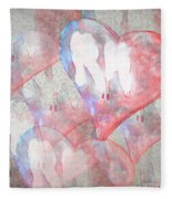 Hearts 15 Square Fleece Blanket