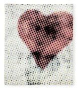 Hearts 21 Square Fleece Blanket