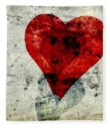 Hearts 3 Square Fleece Blanket