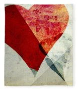 Hearts 6 Square Fleece Blanket