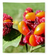 Hearts-a-bursting Seed Pods Fleece Blanket