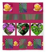 Hearts And Flowers 2 Fleece Blanket
