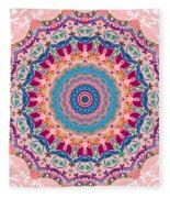 Hearts And Flowers No. 1 Fleece Blanket