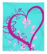Hearts And Vines Fleece Blanket