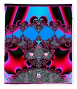 Hearts Ballet Curtain Call Fractal 121 Fleece Blanket