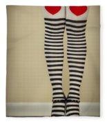 Hearts N Stripes Fleece Blanket