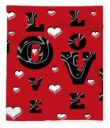 Hearts Of Love Fleece Blanket