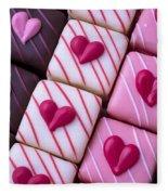 Hearts On Candy Fleece Blanket